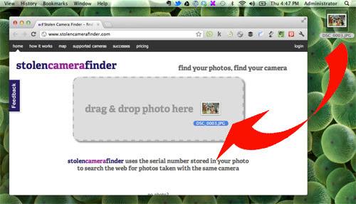Drop a photo